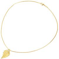Подвеска Ester Bijoux Filigree Birch Mini Лист березы в золоте, фото
