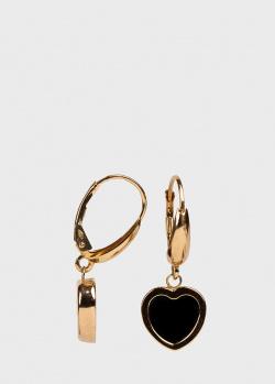 Золотые серьги Ponte Vecchio Love Lock в форме сердца, фото