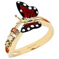 Кольцо Roberto Bravo Monarch Butterfly с красной бабочкой , фото