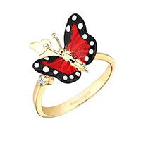Кольцо Roberto Bravo Monarch Butterfly с бриллиантами, фото