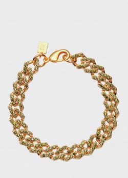Позолоченный браслет Crystal Haze Mexican Chain с фианитами, фото