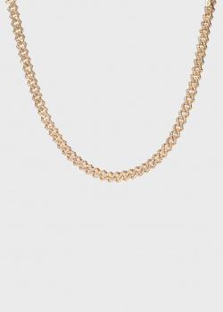 Позолоченное ожерелье Crystal Haze Mexican Chain с кристаллами, фото