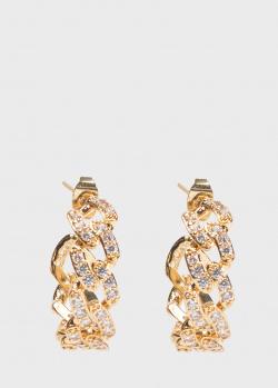 Серьги-кольца Crystal Haze Mexican Chain, фото