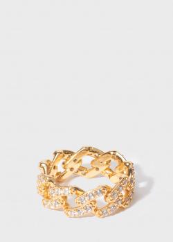 Кольцо Crystal Haze Mexican Chain с циркониями, фото