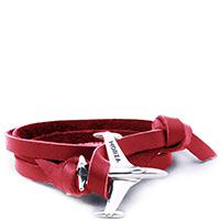 Красный кожаный Браслет Morza Shooting Star с оригинальной застежкой, фото