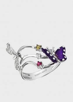 Кольцо Roberto Bravo Monarch Butterfly с сапфиром и цитрином, фото