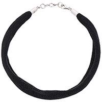 Ожерелье Adami & Martucci из серебряной ткани черного цвета, фото