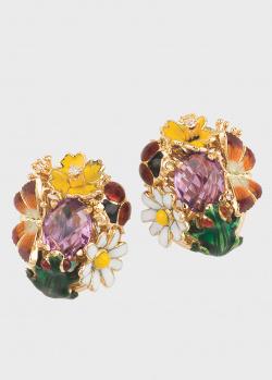 Серьги Roberto Bravo Noah's Ark с бабочкой и цветами, фото