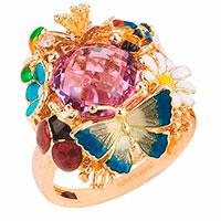 Кольцо Roberto Bravo Noah's Ark с бабочкой и цветами , фото