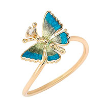 Кольцо Roberto Bravo Noah's Ark с бабочкой, фото