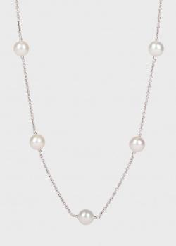 Золотое ожерелье Yamagiwa с бриллиантами и жемчугом, фото