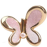 Кольцо Graziella с розовой бабочкой , фото