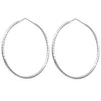 Серебряные серьги-кольца Fraboso с фактурой-спиралью, фото