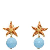 Серьги-подвески Misis Krill в форме морских звезд, фото