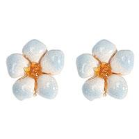Серебряные серьги Misis в форме цветов, фото