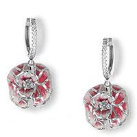 Серебряные серьги Misis Volterra с подвесками-цветками, фото