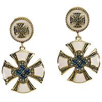 Серьги Misis Artificialia в виде крестов с сапфирами, фото