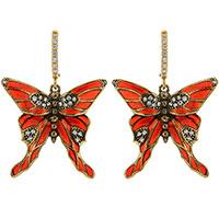 Серьги-подвески Misis Nike с красными бабочками, фото