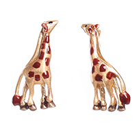 Серебряные серьги Misis в форме жирафов, фото
