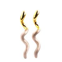 Длинные серьги Marcello Pane изогнутой формы, фото