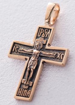 Крестик с чернением из золота, фото