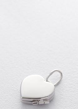 Кулон для фотографии Сердце из белого золота, фото