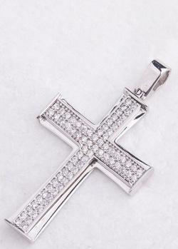 Подвеска-крест из белого золота, фото