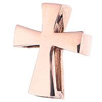 Гладкий крестик из красного золота, фото