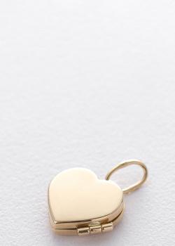 Кулон для фотографии Сердце из желтого золота, фото