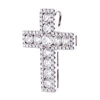 Золотой крестик с бриллиантами, фото