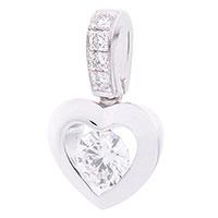 Подвеска в форме сердца с бриллиантами, фото