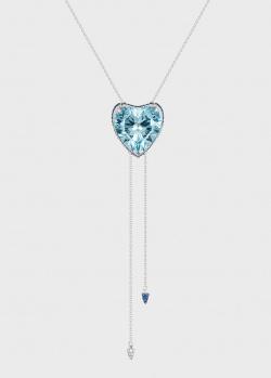 Золотое колье Art Vivace Jewelry с топазом в виде сердца, фото