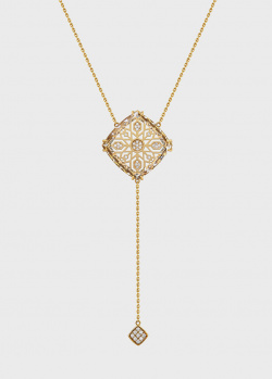 Золотое колье Art Vivace Jewelry Звезда Милады с винным топазом, фото