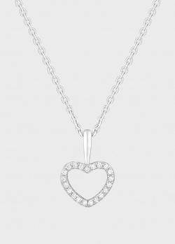 Подвеска в виде сердца Art Vivace Jewelry Hearts из белого золота с бриллиантами, фото