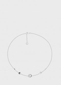 Колье Art Vivace Jewelry  День и ночь из белого золота с черными бриллиантами, фото