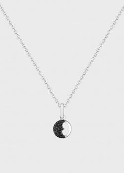 Колье Art Vivace Jewelry  День и ночь с черными бриллиантами, фото