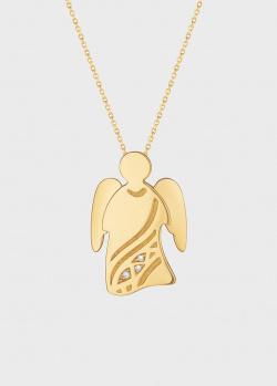 Подвеска с цепочкой Art Vivace Jewelry Ангел с бриллиантами, фото