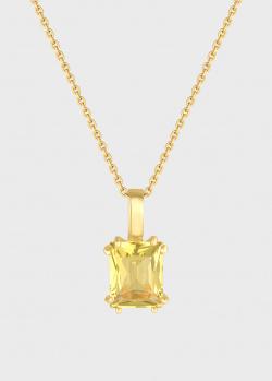 Золотая подвеска Art Vivace Jewelry с цитрином, фото