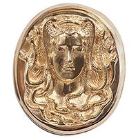 Подвес к базе rockah. Siren's Treasures Горгона из ювелирной бронзы с позолотой, фото