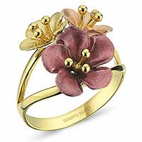 Кольцо Roberto Bravo Petit Garden с цветами, фото