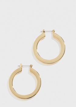 Позолоченные серьги-кольца Luv Aj Celine, фото