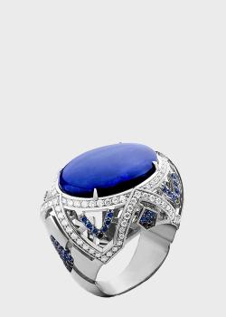 Перстень из белого золота с сапфиром Art Vivace Jewelry Озеро в горах, фото