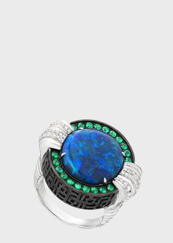 Перстень Art Vivace Jewelry с австралийским черным опалом, фото