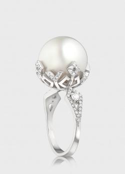 Кольцо из белого золота Art Vivace Jewelry Чудо Моря с жемчужиной, фото