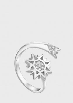 Кольцо Art Vivace Jewelry Рождественская звезда из белого золота, фото
