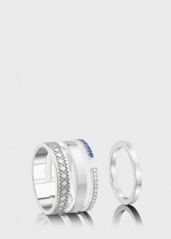 Двойное кольцо Art Vivace Jewelry Вышиванка из белого золота, фото