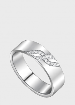 Обручальное кольцо из белого золота Art Vivace Jewelry с бриллиантами, фото