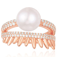 Серебряное кольцо APM Monaco Spike c жемчугом, фото
