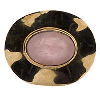 Перстень Adami & Martucci с розовым камнем овальной формы, фото