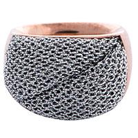 Перстень Adami & Martucci Mesh с серебряной сеткой, фото